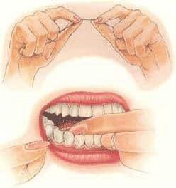 استفاده از نخ دندان مانند يك دندانپزشک